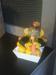sculture de fruits